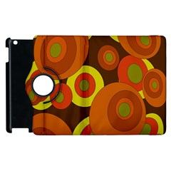 Orange Pattern Apple Ipad 2 Flip 360 Case by Valentinaart