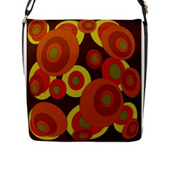 Orange Pattern Flap Messenger Bag (l)  by Valentinaart