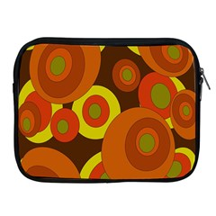 Orange Pattern Apple Ipad 2/3/4 Zipper Cases by Valentinaart
