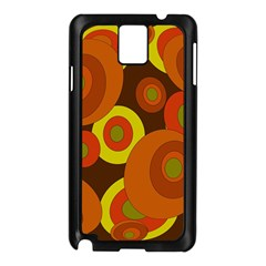 Orange Pattern Samsung Galaxy Note 3 N9005 Case (black) by Valentinaart