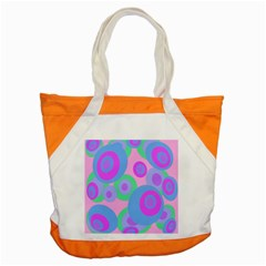 Pink Pattern Accent Tote Bag by Valentinaart