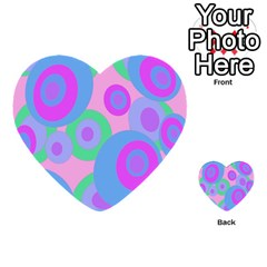 Pink Pattern Multi Purpose Cards (heart)