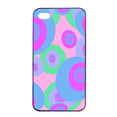 Pink Pattern Apple Iphone 4/4s Seamless Case (black) by Valentinaart