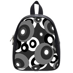 Gray Pattern School Bags (small)  by Valentinaart