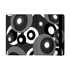 Gray Pattern Apple Ipad Mini Flip Case by Valentinaart