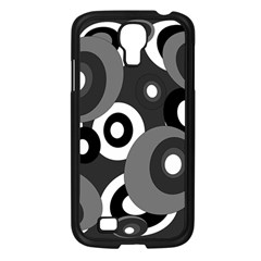 Gray Pattern Samsung Galaxy S4 I9500/ I9505 Case (black) by Valentinaart