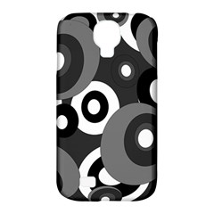 Gray Pattern Samsung Galaxy S4 Classic Hardshell Case (pc+silicone) by Valentinaart