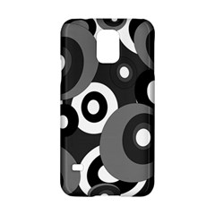 Gray Pattern Samsung Galaxy S5 Hardshell Case  by Valentinaart