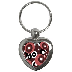 Decorative Pattern Key Chains (heart)  by Valentinaart