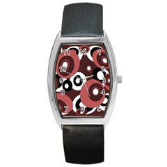 Decorative Pattern Barrel Style Metal Watch by Valentinaart