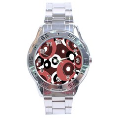 Decorative Pattern Stainless Steel Analogue Watch by Valentinaart