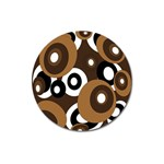 Brown pattern Magnet 3  (Round) Front