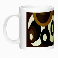 Brown Pattern Night Luminous Mugs by Valentinaart