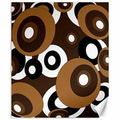Brown Pattern Canvas 8  X 10  by Valentinaart