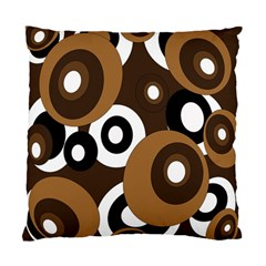 Brown Pattern Standard Cushion Case (two Sides) by Valentinaart