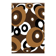 Brown Pattern Shower Curtain 48  X 72  (small)  by Valentinaart
