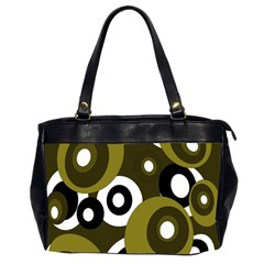 Green Pattern Office Handbags (2 Sides)  by Valentinaart