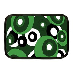 Green Pattern Netbook Case (medium)  by Valentinaart