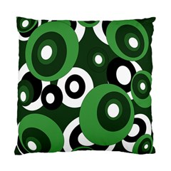 Green Pattern Standard Cushion Case (one Side) by Valentinaart