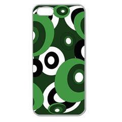 Green Pattern Apple Seamless Iphone 5 Case (clear) by Valentinaart