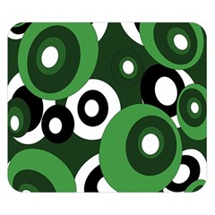 Green Pattern Double Sided Flano Blanket (small)  by Valentinaart