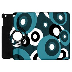 Blue Pattern Apple Ipad Mini Flip 360 Case by Valentinaart