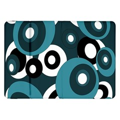 Blue Pattern Samsung Galaxy Tab 8 9  P7300 Flip Case by Valentinaart