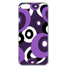 Purple Pattern Apple Seamless Iphone 5 Case (clear) by Valentinaart