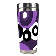 Purple Pattern Stainless Steel Travel Tumblers