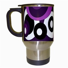 Purple Pattern Travel Mugs (white) by Valentinaart