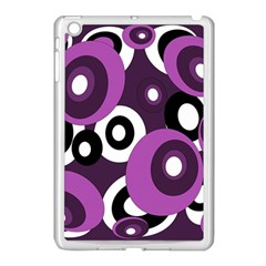 Purple Pattern Apple Ipad Mini Case (white) by Valentinaart