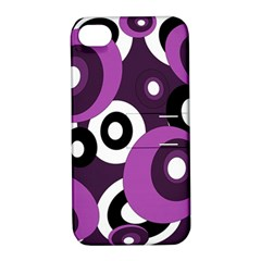 Purple Pattern Apple Iphone 4/4s Hardshell Case With Stand by Valentinaart