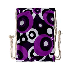 Purple Pattern Drawstring Bag (small) by Valentinaart
