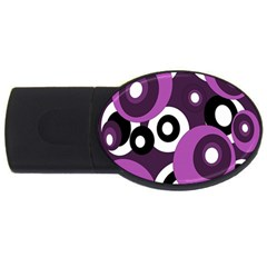 Purple Pattern Usb Flash Drive Oval (4 Gb)  by Valentinaart
