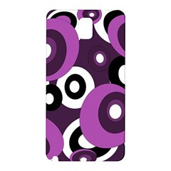 Purple Pattern Samsung Galaxy Note 3 N9005 Hardshell Back Case by Valentinaart
