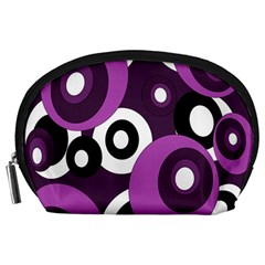 Purple Pattern Accessory Pouches (large)  by Valentinaart
