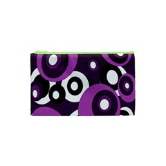 Purple Pattern Cosmetic Bag (xs) by Valentinaart