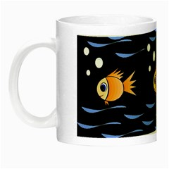 Fish Pattern Night Luminous Mugs by Valentinaart