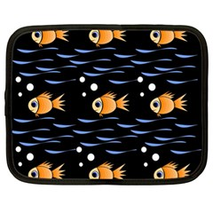 Fish Pattern Netbook Case (xl)  by Valentinaart