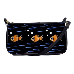 Fish Pattern Shoulder Clutch Bags by Valentinaart