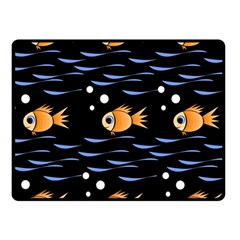 Fish Pattern Fleece Blanket (small) by Valentinaart