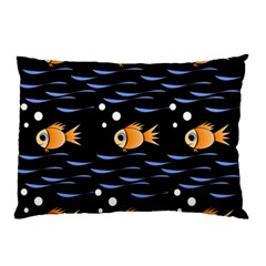 Fish Pattern Pillow Case (two Sides) by Valentinaart