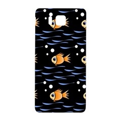 Fish Pattern Samsung Galaxy Alpha Hardshell Back Case by Valentinaart
