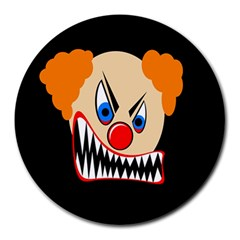 Evil Clown Round Mousepads by Valentinaart