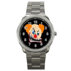 Evil Clown Sport Metal Watch by Valentinaart