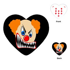 Evil Clown Playing Cards (heart)  by Valentinaart