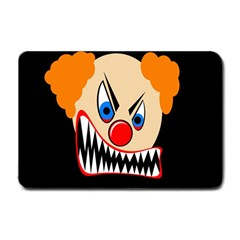 Evil Clown Small Doormat  by Valentinaart