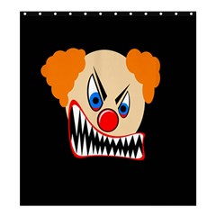 Evil Clown Shower Curtain 66  X 72  (large)  by Valentinaart