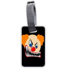 Evil Clown Luggage Tags (one Side)  by Valentinaart