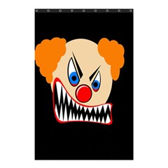Evil Clown Shower Curtain 48  X 72  (small)  by Valentinaart